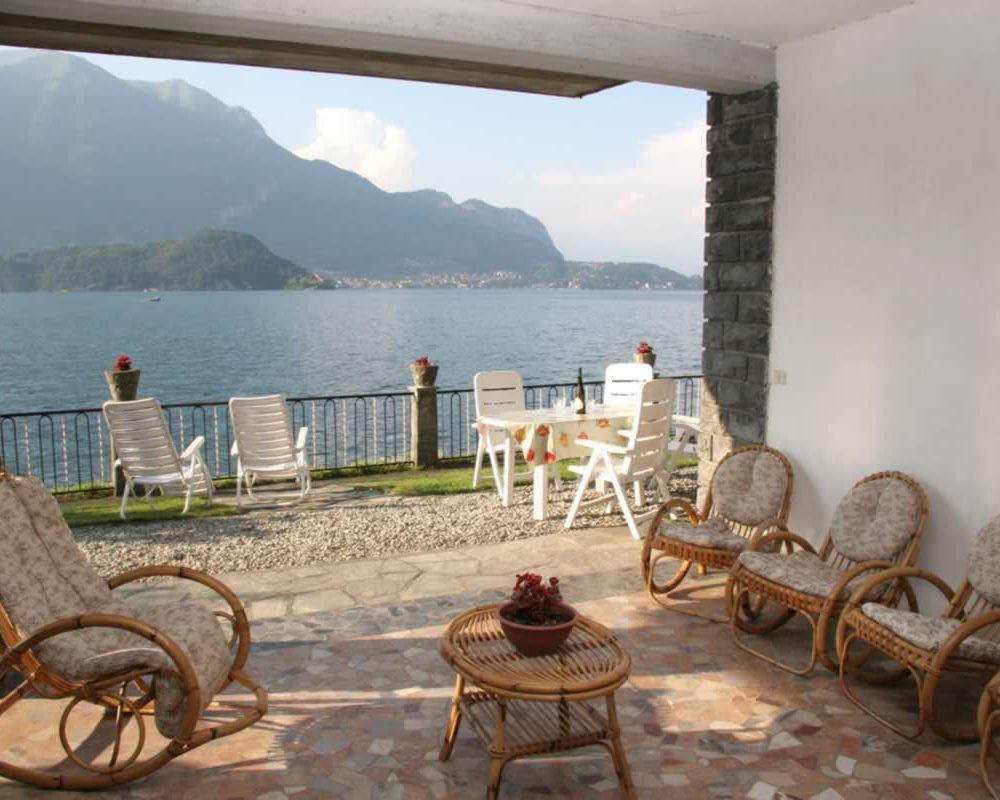 Como beach la boheme patio on the lake