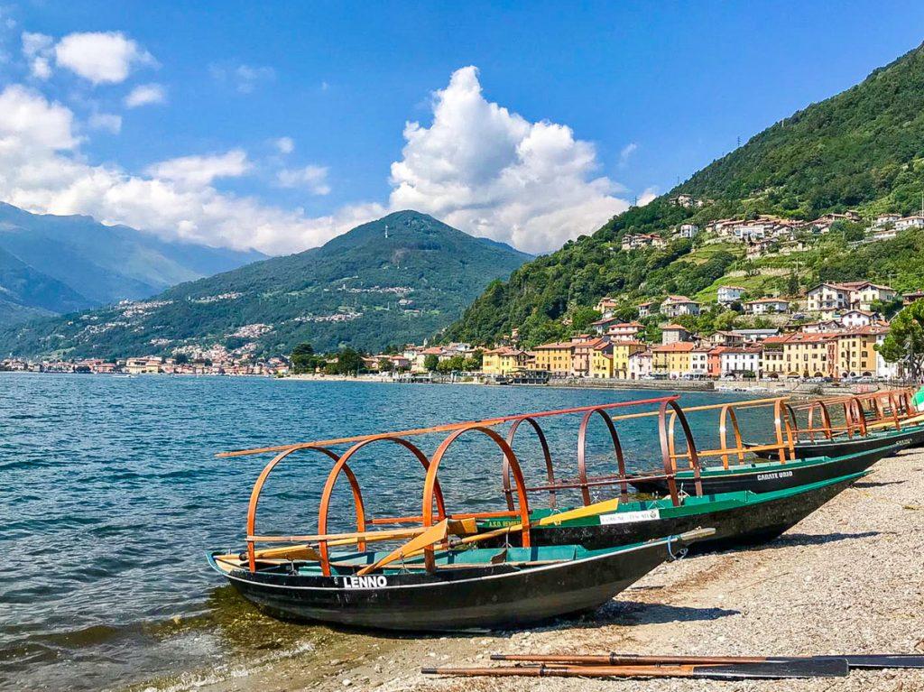 lucia lake como traditional boat bellagio villas
